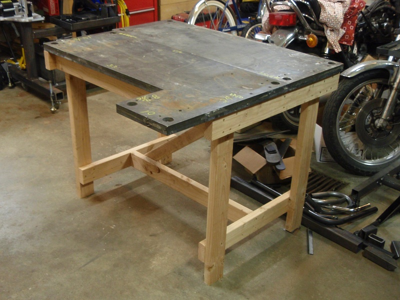 Diy wooden bench this is plans welding table for Plan fabrication table